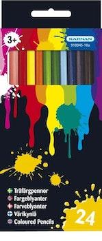 Träfärgpennor 24 st