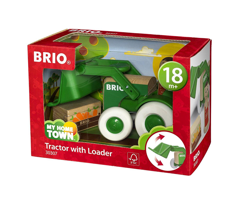 BRIO Traktor med skopa