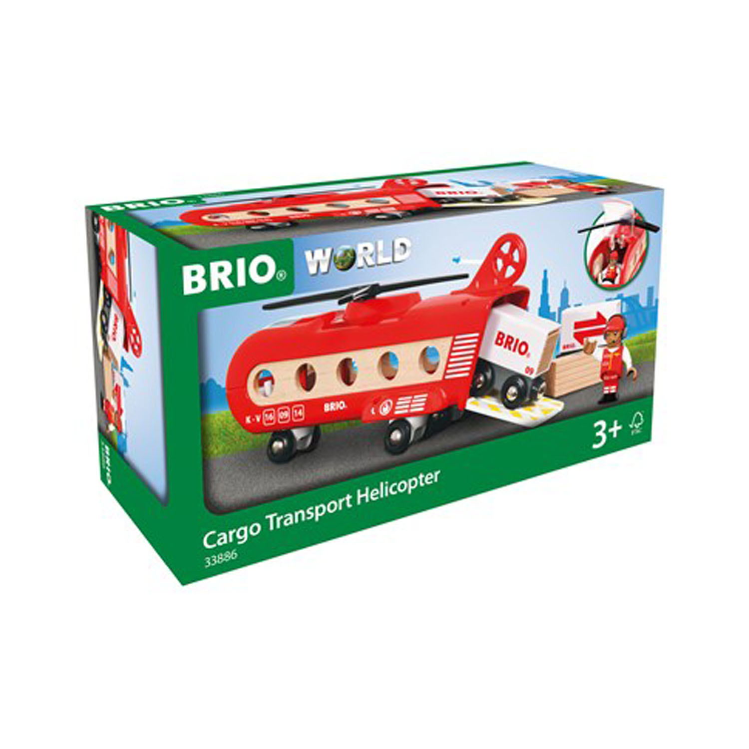 BRIO Lift & Load 33886 Transporthelikopter
