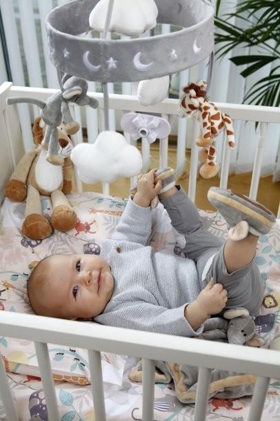 Teddykompaniet Diinglisar Wild Sängmobil Elefant & Giraff