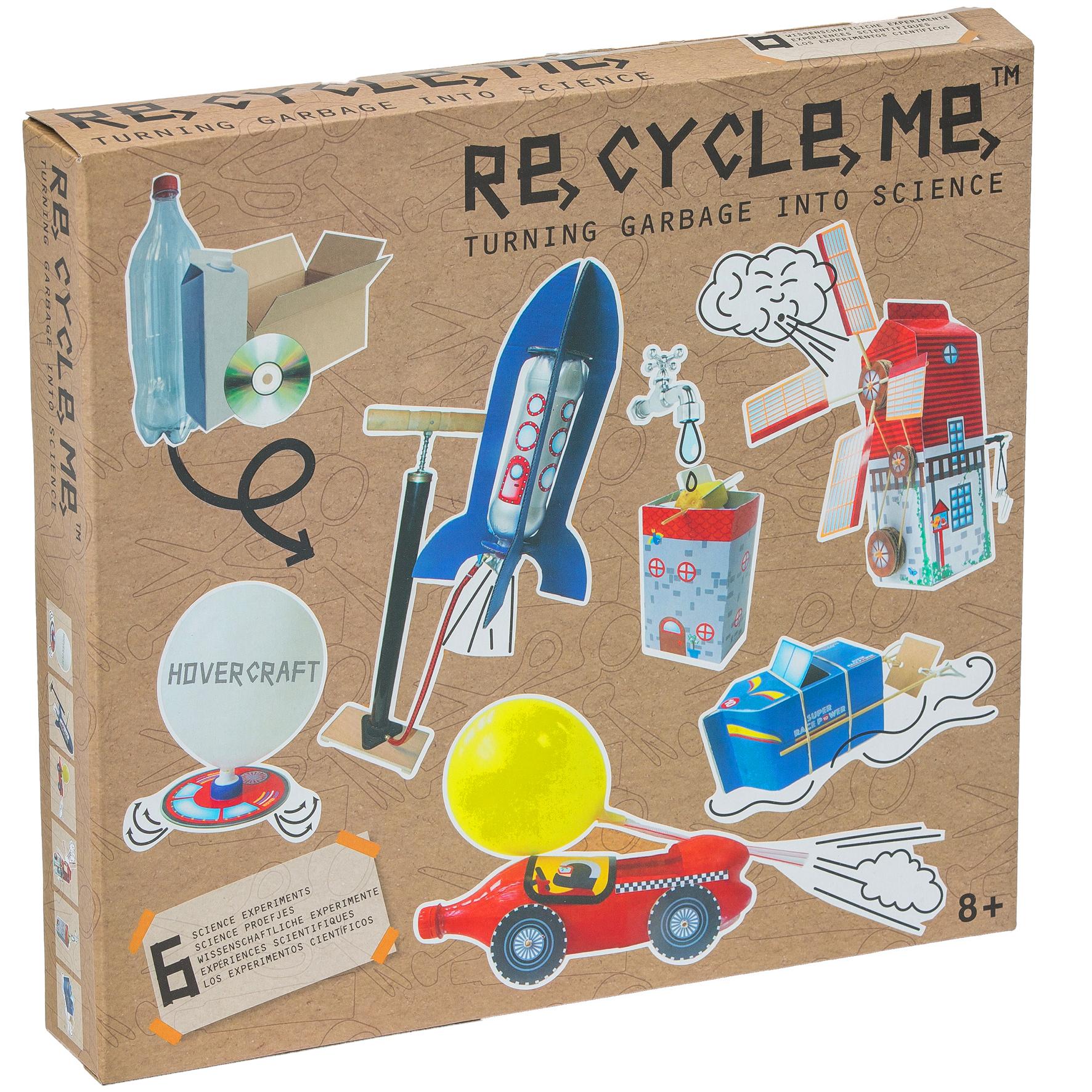 Recycle me Vetenskap 6 st återvinningspyssel