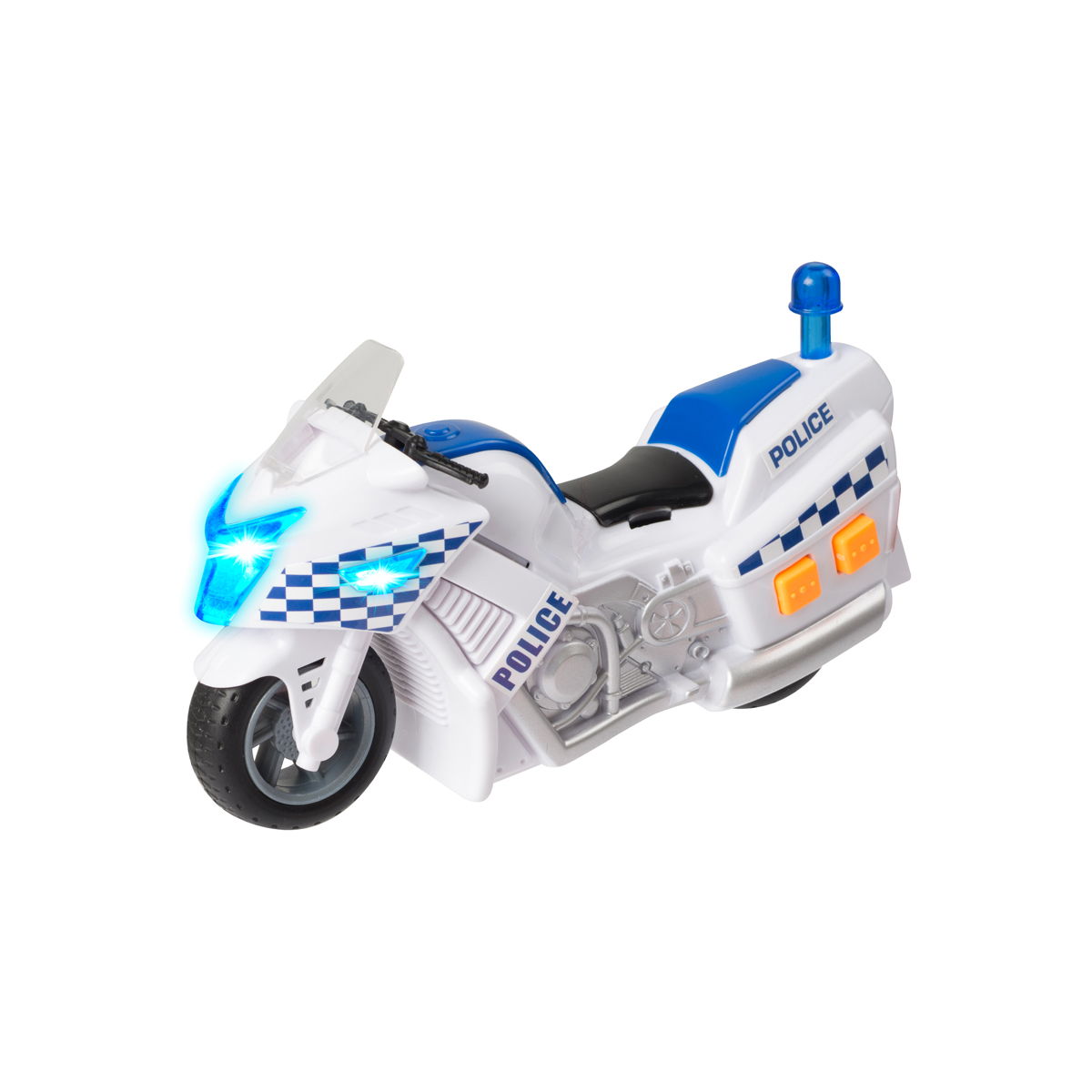 Teamsterz Polismotorcykel 15 cm med ljud & ljus
