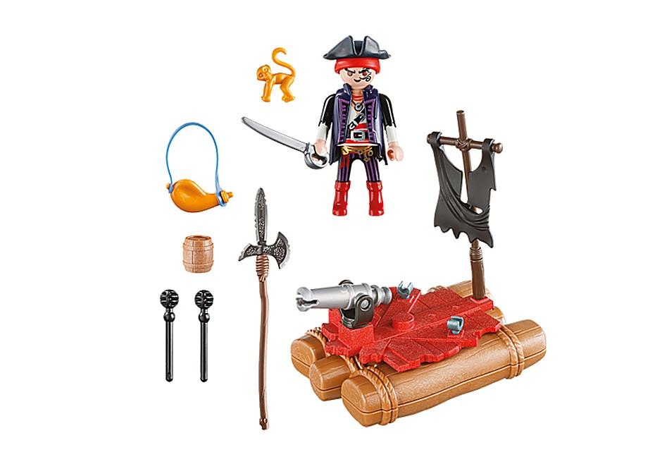 Playmobil Pirates - Pirat med flotte i liten bärväska