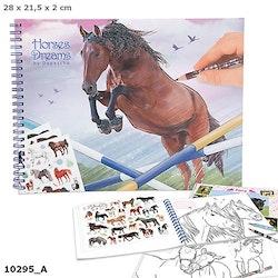 Horses Dreams - Målarbok