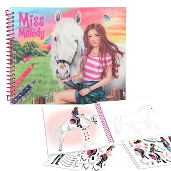 Miss Melody Dress up your Horse Målarbok