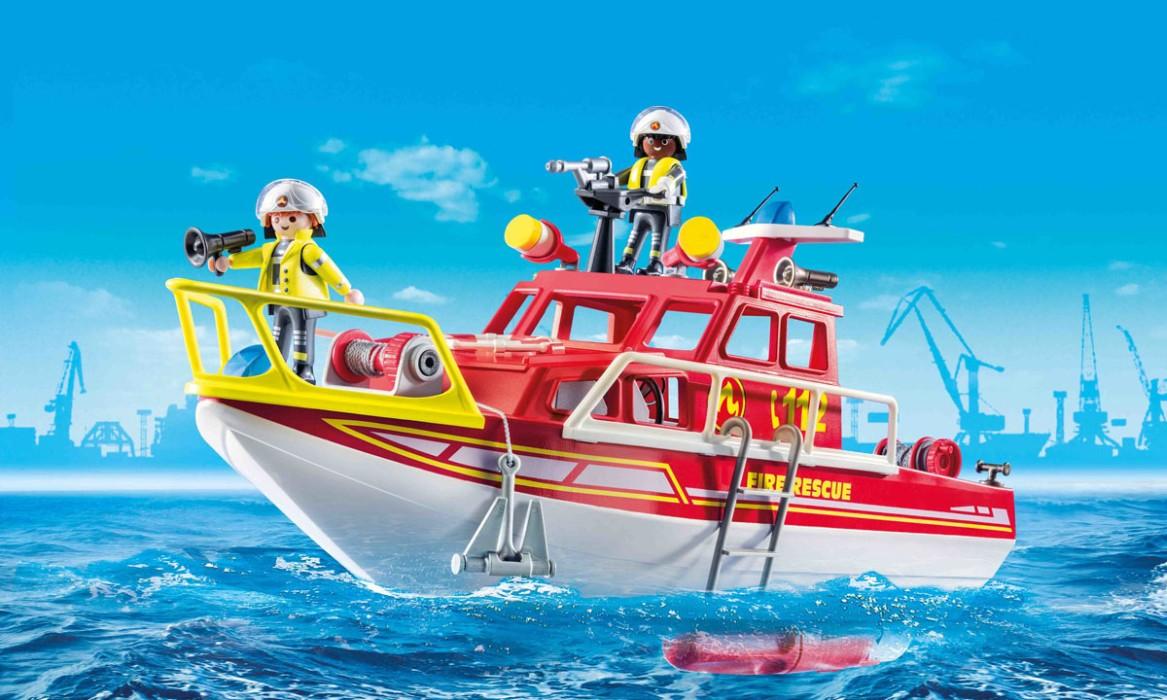 Playmobil City Action - Brandräddningsbåt