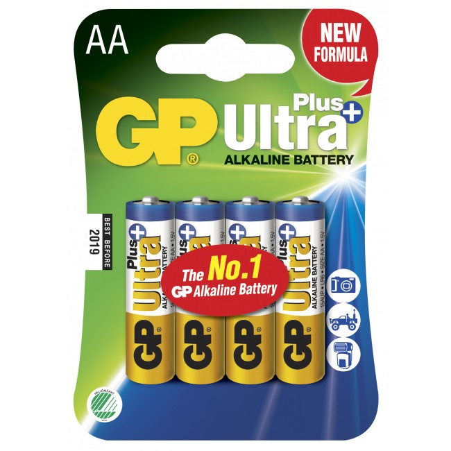GP Batteri AA Ultra Plus - 4 st