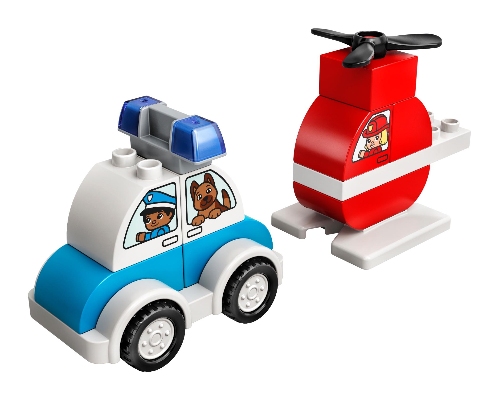 LEGO DUPLO 10957 Brandhelikopter och polisbil