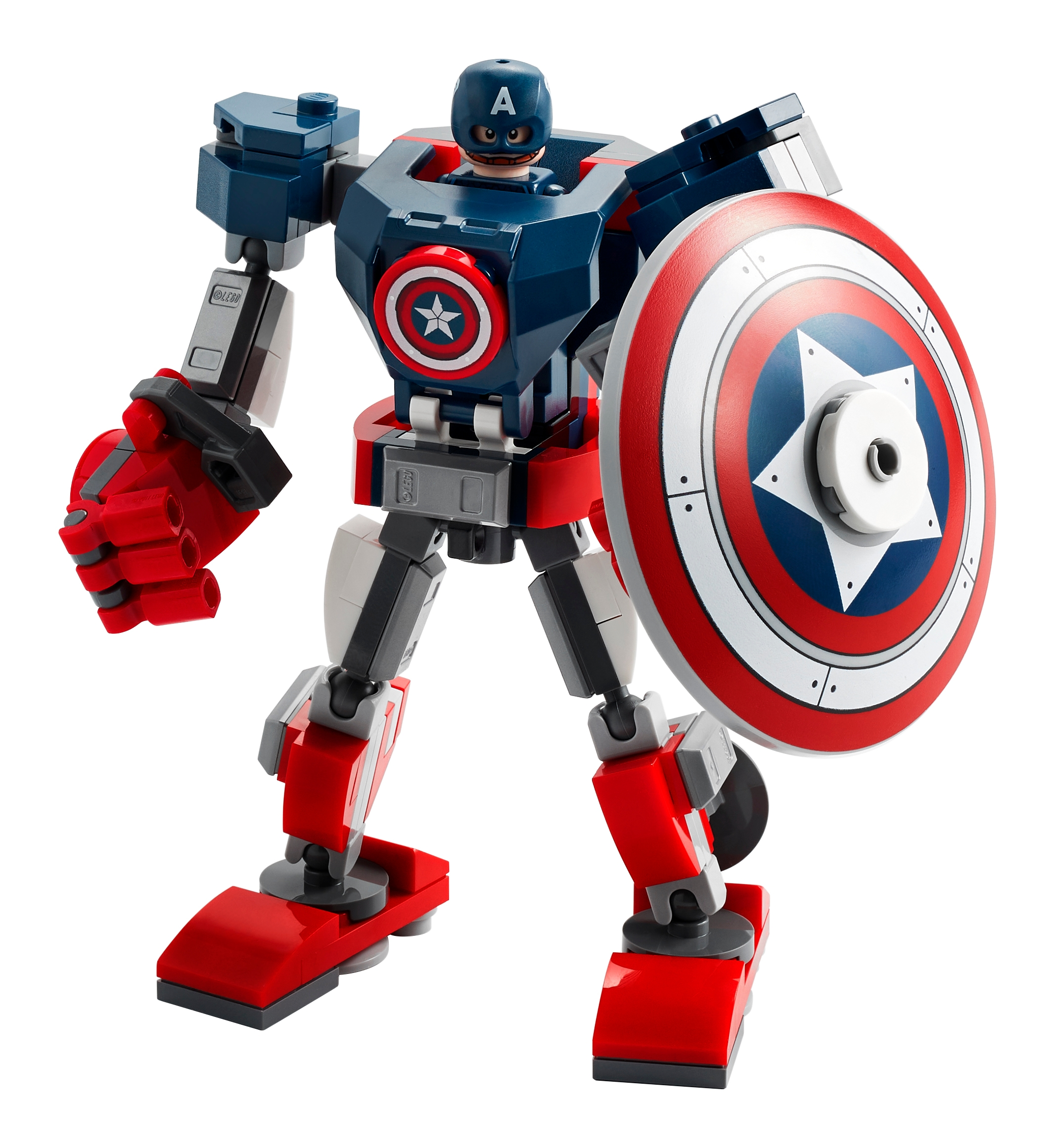 LEGO Marvel 76168 Captain America i robotrustning