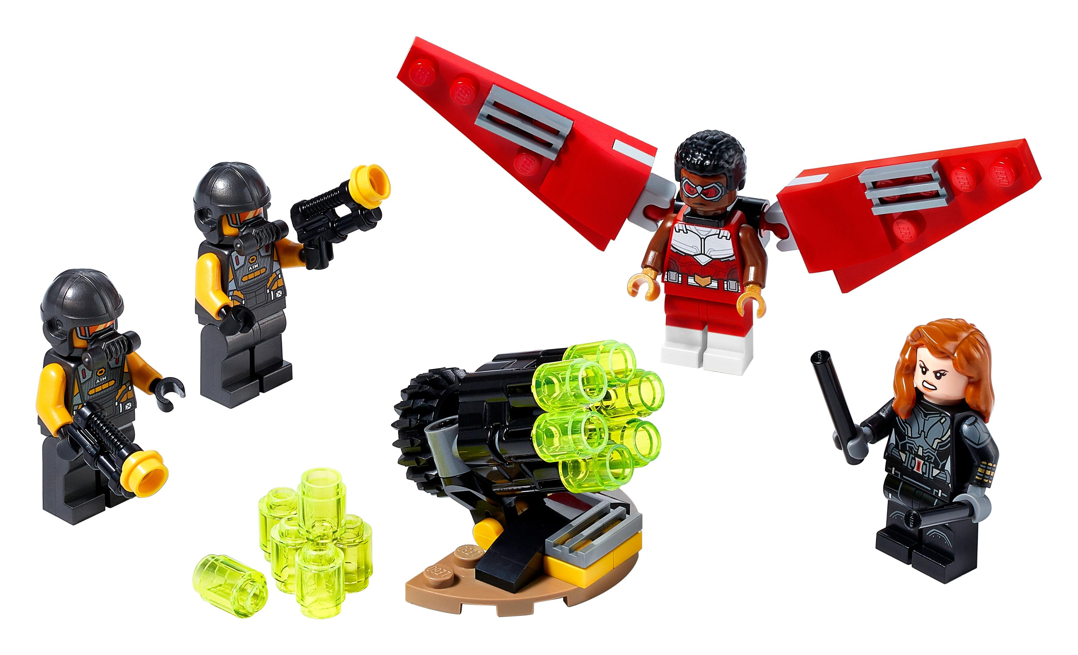 LEGO Marvel 40418 Falcon & Black Widow samarbetar