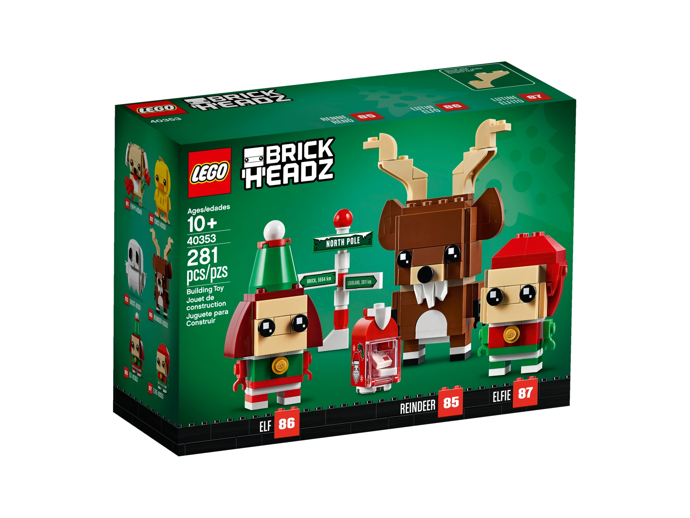 LEGO BrickHeadz 40353 Ren och tomtenissar