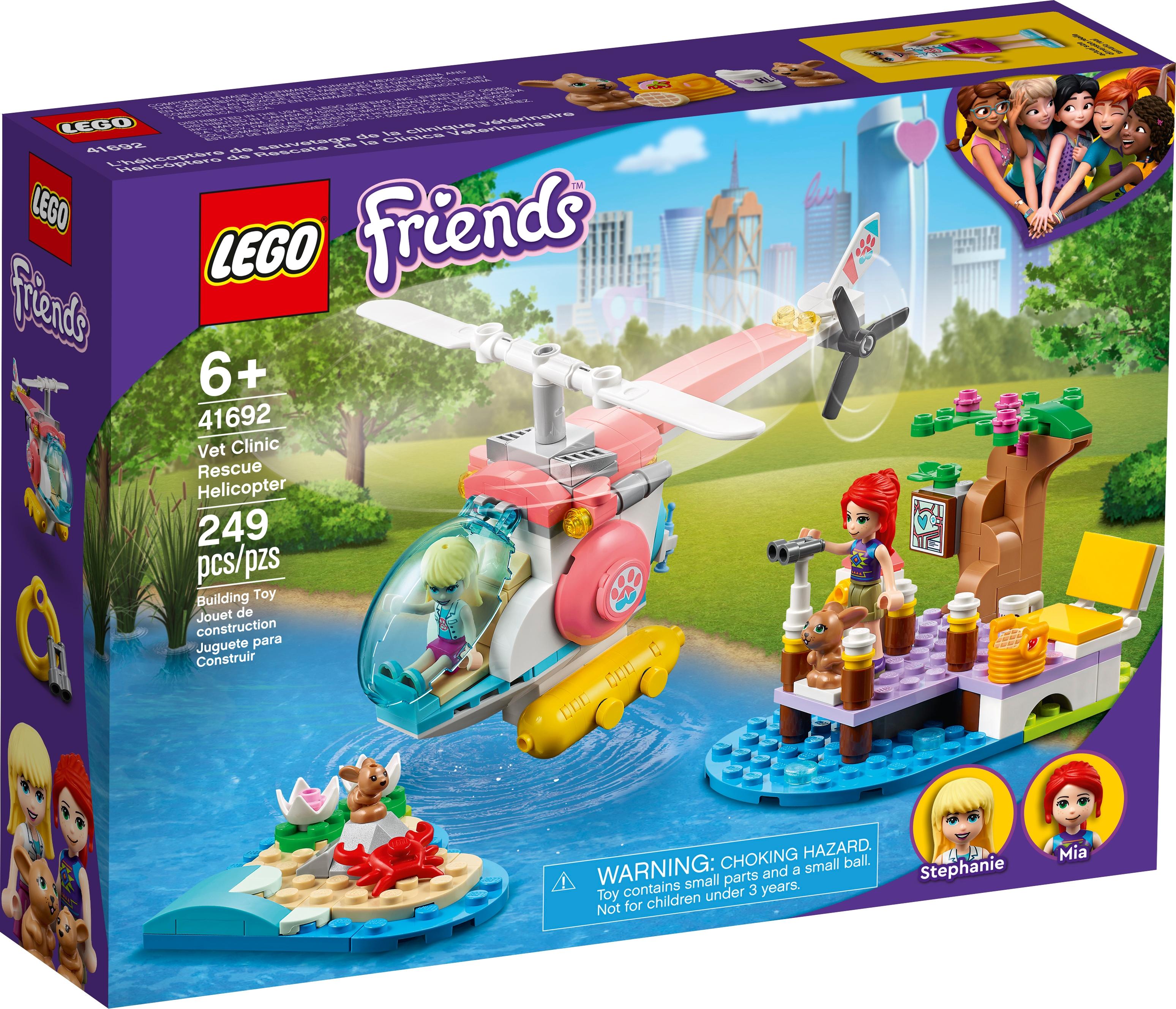 LEGO Friends 41692 Veterinärklinikens räddningshelikopter