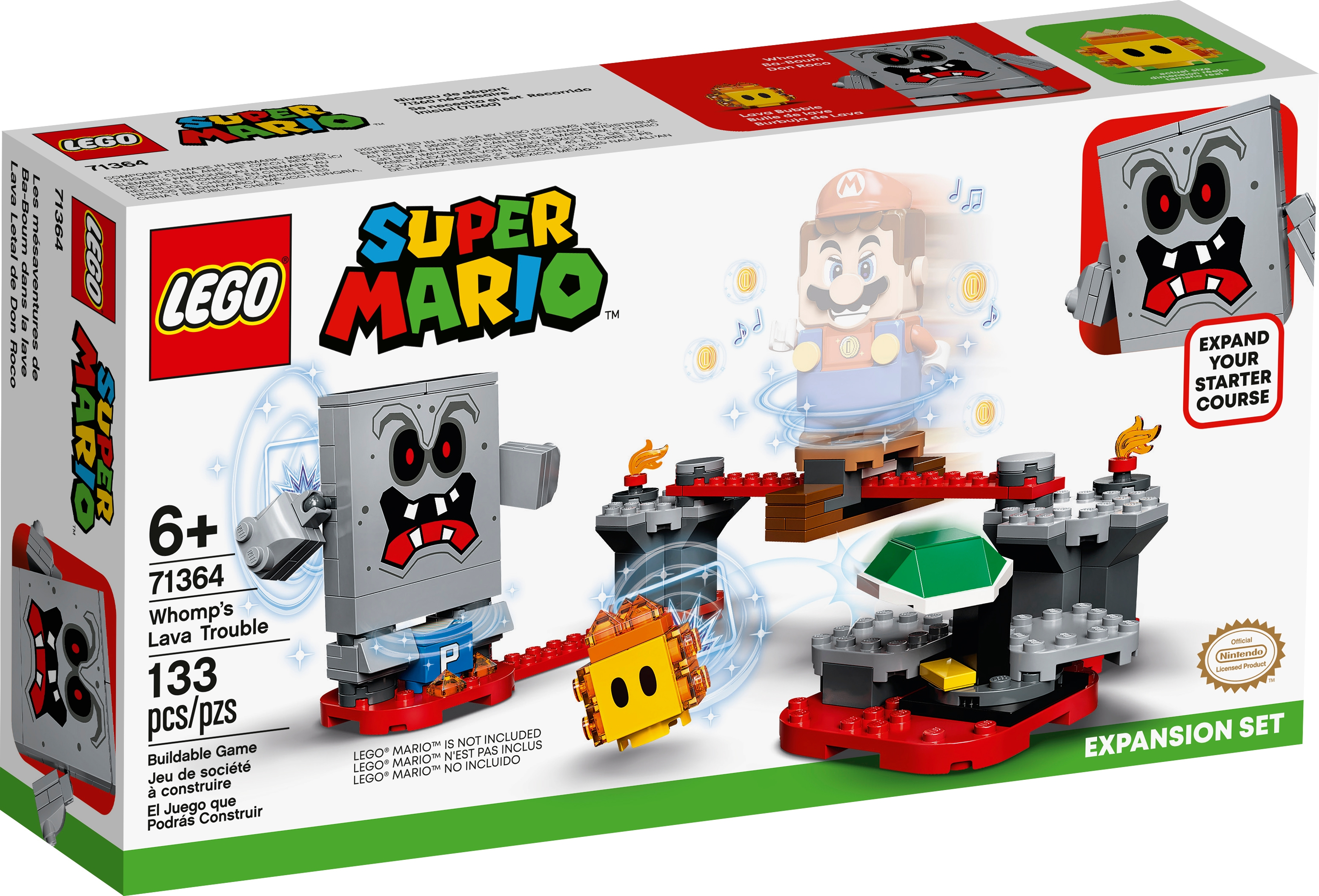 LEGO Super Mario 71364 Whomp's lavabekymmer – Expansionsset