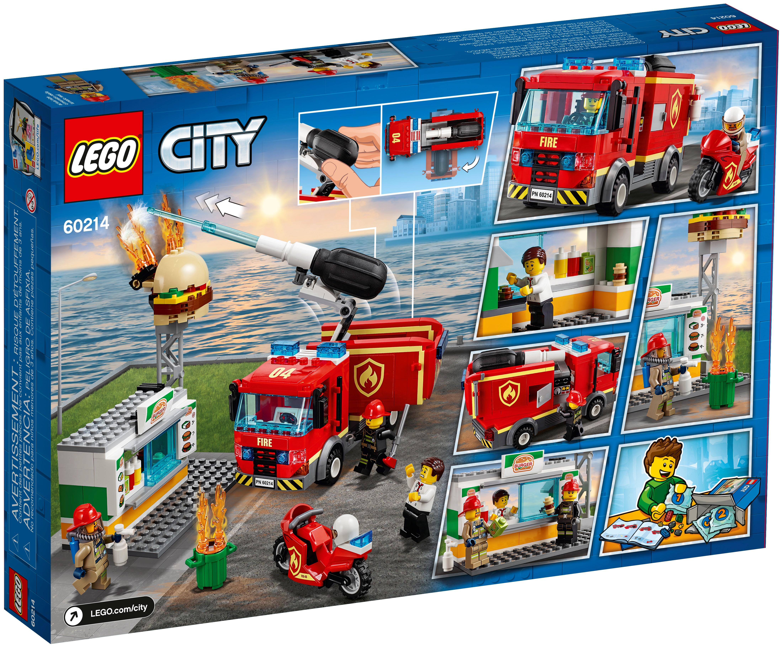 LEGO City 60214 Brandkårsutryckning till hamburgerrestaurang