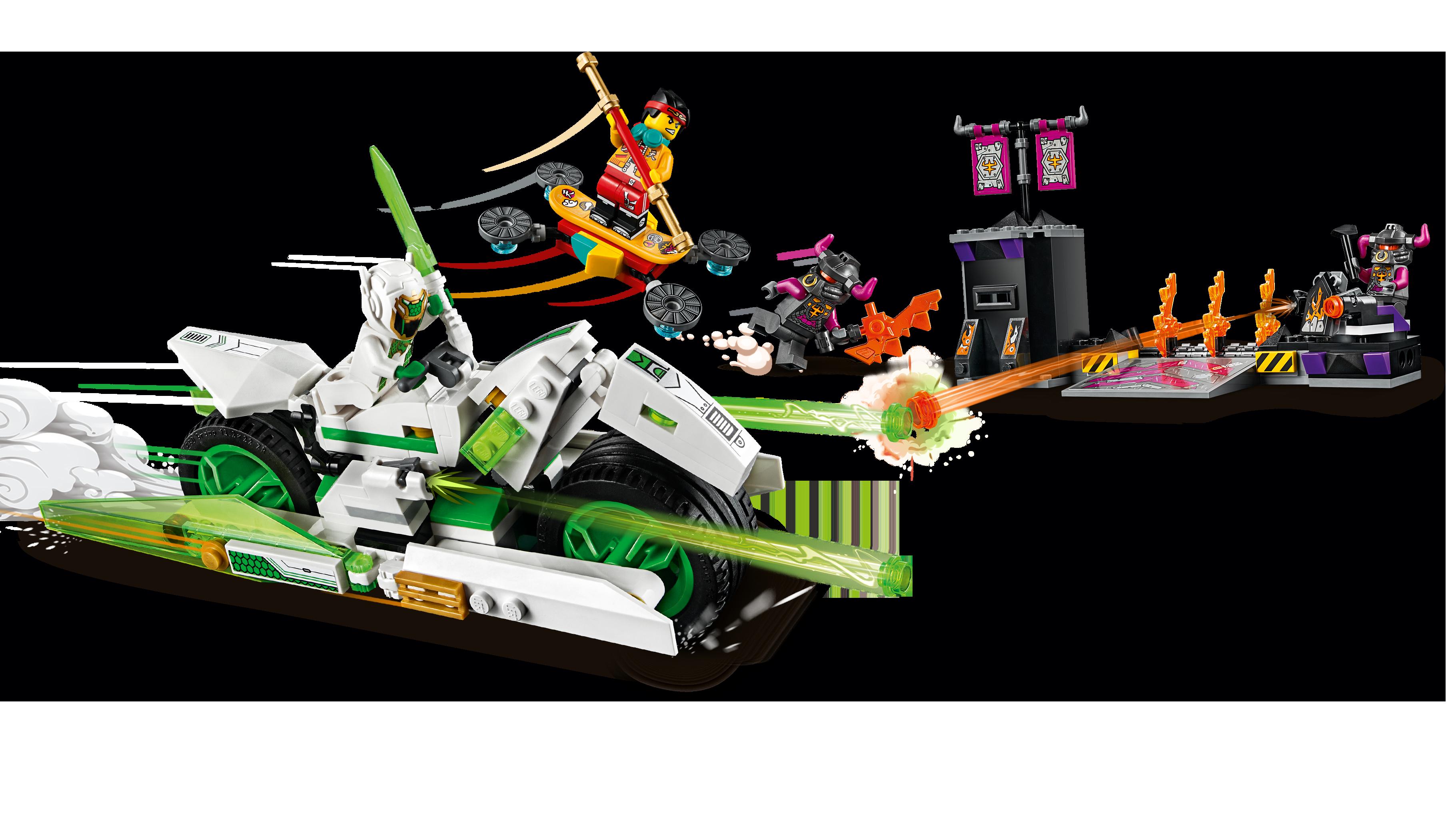 LEGO Monkie Kid 80006 Vit drakhästcykel