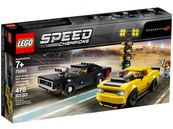 LEGO Speed Champions 75893 2018 Dodge Challenger SRT Demon och 1970 Dodge Charger R/T