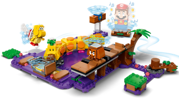 LEGO Super Mario 71383 Wigglers giftiga träsk – Expansionsset