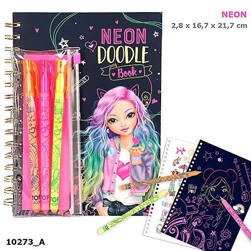 TOPModel Doodle Pysselbok med neonpennor