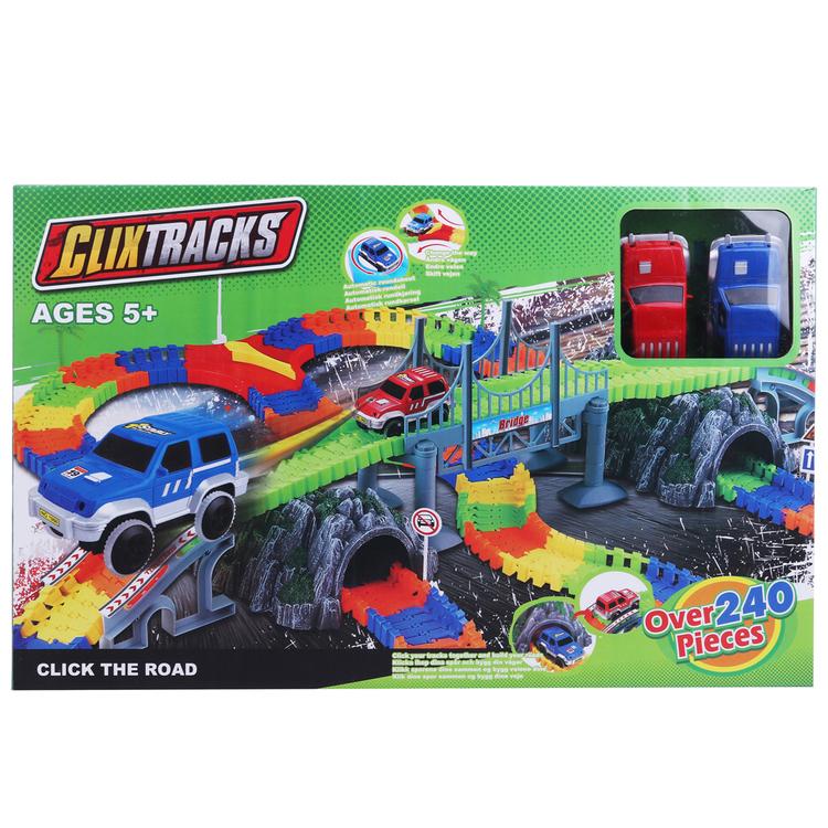 Clixtracks, Bilbana med 240 delar & 2 bilar