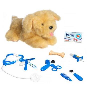 Interaktiv Hund hos veterinär