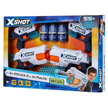X-Shot, 2 st Reflex 6 & 2 st Pulse
