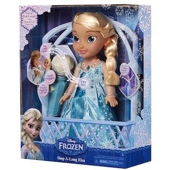 Frozen Sing-a-long med Elsa i duett med microfon