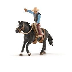 Schleich, Sadlad häst med cowboy