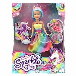 Sparkle Girlz, Docka Unicorn turkos