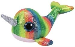 TY Beanie Boos - Nori  multicolor narwhal (enhörningsval)15 cm