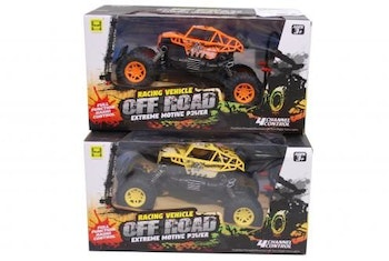 OFF ROAD R/C bil 22cm 1:18 gul/orange