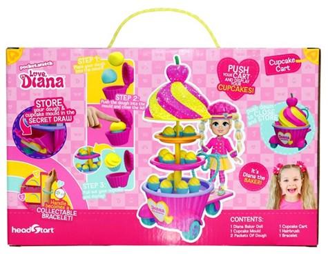 Love Diana Cupcake Cart Playset