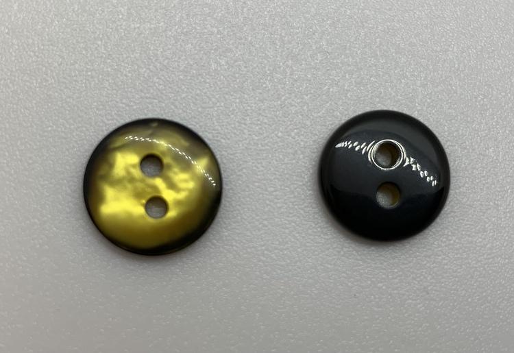 12mm Pärleffekt svart/gul