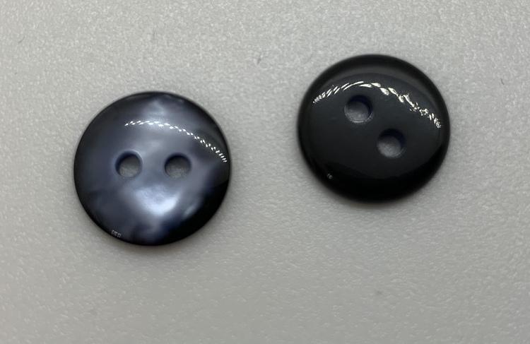 12mm Pärleffekt Svart/blå