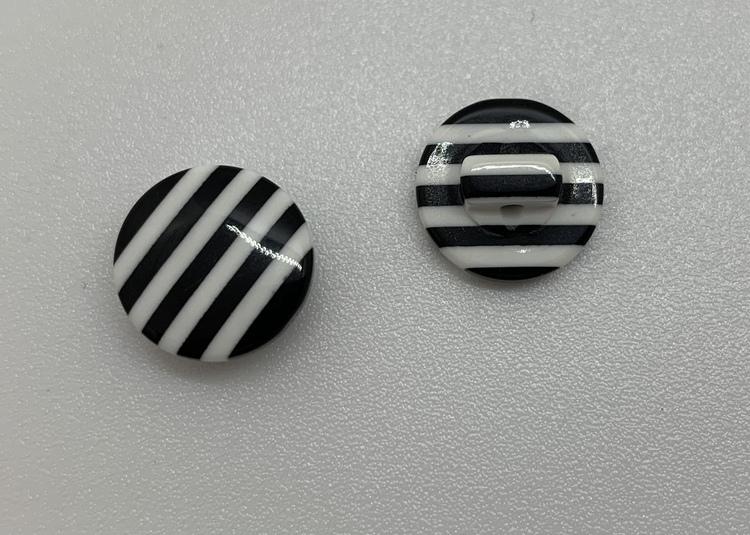 12mm Rand svart/vit