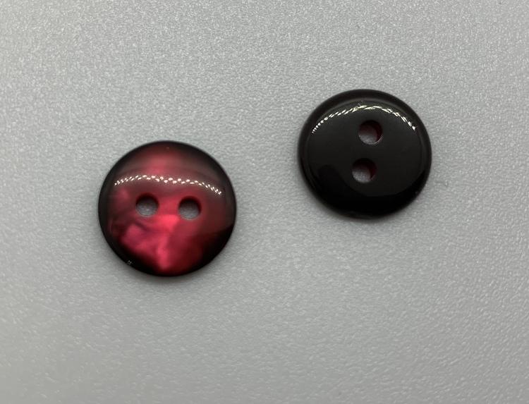 12mm Pärleffekt Svart/röd
