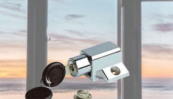 Fönsterlås med två nycklar för utåtgående fönster