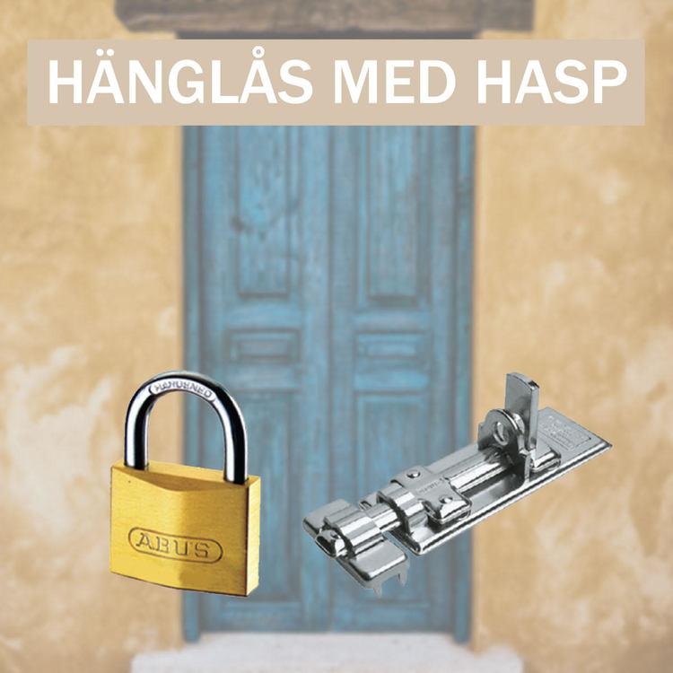 Hänglås med Hasp