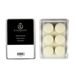 Vaxkakor 6 st White Pearls - Nytvättat