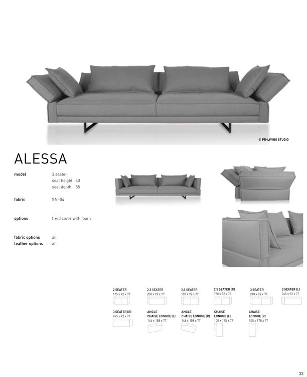 ALESSA 3 Seater