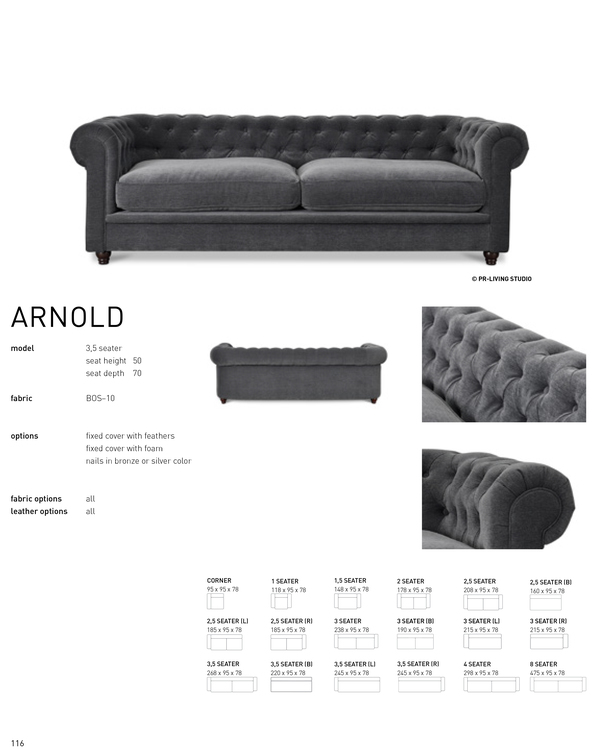 ARNOLD 3,5 Seater