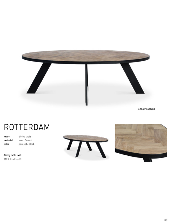 ROTTERDAM TABLE oval