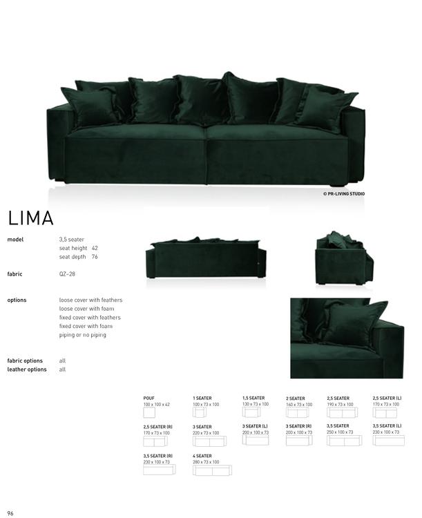 LIMA  3 Seater med Pouf