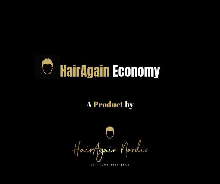 HairAgain Economy hårsystem, tupé, hårersättning.