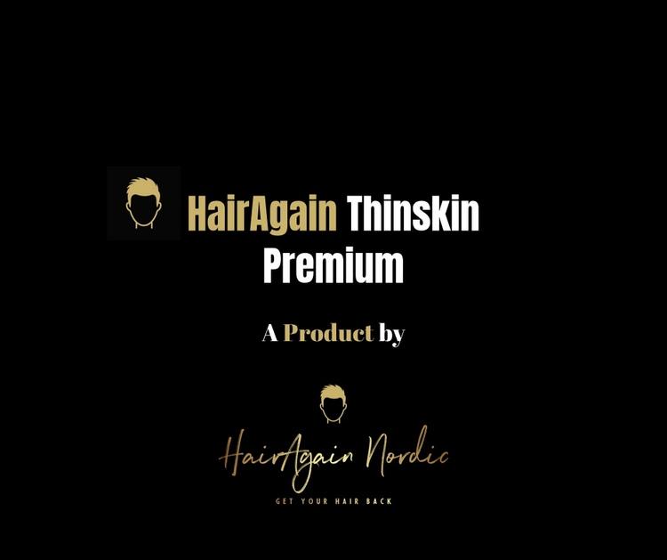 HairAgain Thinskin Premium hårsystem, hårersättning, tupé