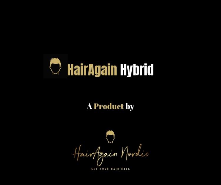 HairAgain Hybrid hårsystem, tupé, hårersättning.