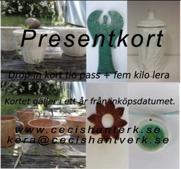 Presentkort drop-in keramik tio gånger..