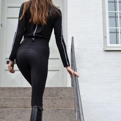 Montar Ridbyxor Megan Yati Highwaist Fullgrip Svart