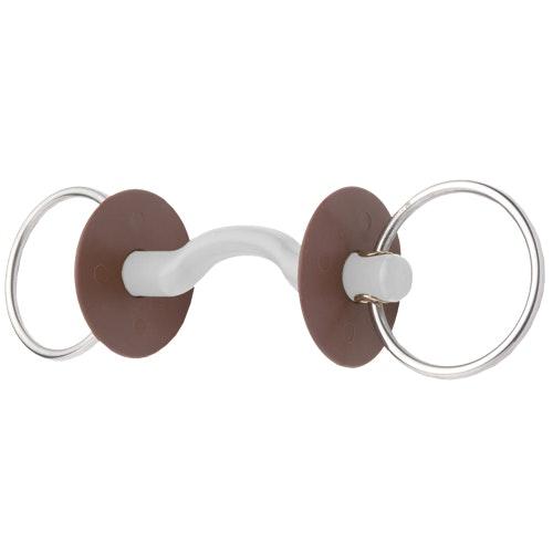 Beris Snaffle Tongue port Soft 6 cm rings