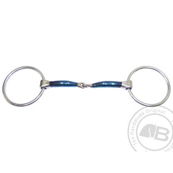 Bombers Loose ring, Snaffle Lock Up 10 mm tjocklek