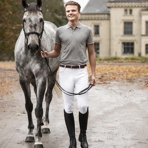 Horselife Ridbyxa Lancelot Herr Vit